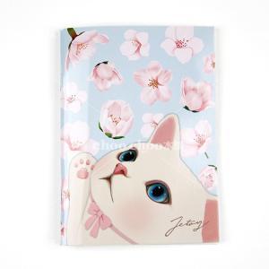 jetoy ジェトイ choochoo本舗 チューチュー本舗 猫雑貨 猫のミニノートA6 ブロッサムネコ かわいいねこ|grooveplan