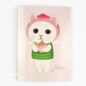 jetoy ジェトイ choochoo本舗 チューチュー本舗 猫雑貨 猫のミニノートA6 ピーチネコ かわいいねこ|grooveplan