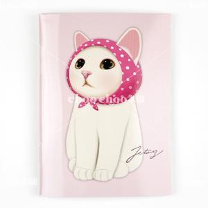 jetoy ジェトイ choochoo本舗 チューチュー本舗 猫雑貨 猫のミニノートA6 ピンクずきんネコ かわいいねこ|grooveplan