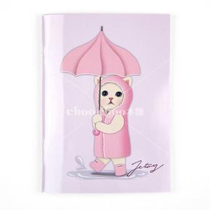jetoy ジェトイ choochoo本舗 チューチュー本舗 猫雑貨 猫のミニノートA6 雨降りネコ かわいいねこ|grooveplan