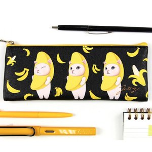 jetoy ジェトイ choochoo本舗 チューチュー本舗 猫の細長スリムポーチ バナナネコのコスメポーチ ペンケース 筆箱 ねこ チュチュ|grooveplan