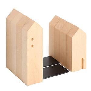 ブックエンド 本立て ビーチ ブックスタンド 木製 家型 ラトレ latree FUN 天然木 シンプル おしゃれ インテリア|grooveplan