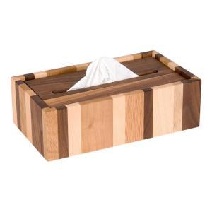 ティッシュボックス モザイク ティッシュケースカバー 落とし蓋式 木製 無垢 ラトレ latree DEN シンプル おしゃれ インテリア|grooveplan