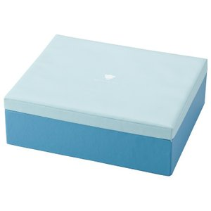 メモリアルボックス ブルー 成長記録 誕生記念 お祝い ベビー用品 身長体重 思い出 小物入れ|grooveplan
