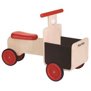 木のおもちゃ プラントイ PLANTOYS デリバリーバイク 乗物 クラクション 荷物入れ 木製玩具|grooveplan