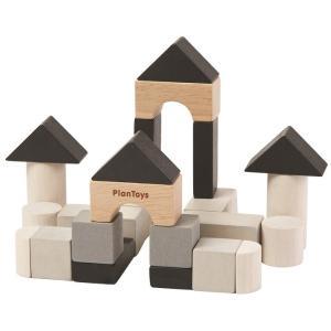 木のおもちゃ プラントイ PLANTOYS 組み立てあそび 積木 プランミニ 24個 知育玩具 指先運動|grooveplan