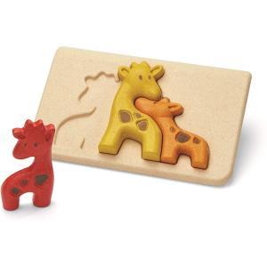 木のおもちゃ プラントイ キリンのパズル 知育玩具|grooveplan