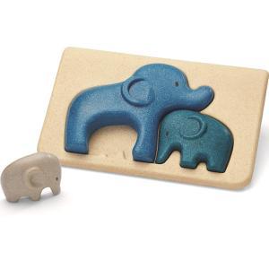 木のおもちゃ プラントイ ゾウのパズル 知育玩具|grooveplan