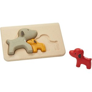 木のおもちゃ プラントイ イヌのパズル 知育玩具|grooveplan