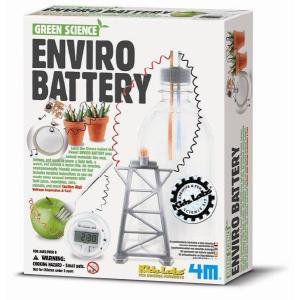 理科実験 工作 4m フォーエム グリーンサイエンス 電池作りキット 電力の学習 自由研究|grooveplan