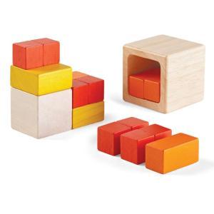 木のおもちゃ プラントイ PLANTOYS キューブインキューブ  積木 カラフル 知育玩具|grooveplan