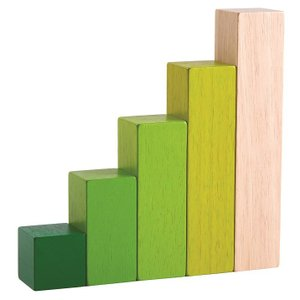 木のおもちゃ プラントイ PLANTOYS オーダリングブロック 5個 グリーン 比率 面積 学習 知育玩具|grooveplan