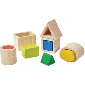 木のおもちゃ プラントイ ジオ マッチングブロック 知育玩具|grooveplan