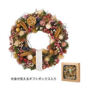 フラワーリース ナチュラルリース 松ぼっくり&木の実L クリスマス 通年 ドライフラワー アートフラワー インテリア|grooveplan