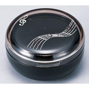 お弁当箱 1段 音符 黒 ランチボックス かわいい 食洗機・電子レンジ対応|grooveplan