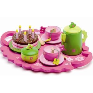 DJECO ジェコ バースデイティーパーティー カラフルでキュートなケーキおままごとセット|grooveplan