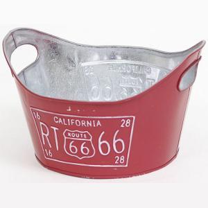 ルート66 ティンプランター 7号 RED 赤 ガーデニング 植木鉢 grooveplan