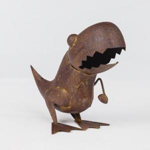 ブリキのT‐レックス ガーデンオーナメント 恐竜 置物 grooveplan