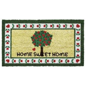 玄関マット屋外用 コイヤーマット ハートの木 Home SWEET Home ボタニカル かわいい|grooveplan