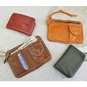 レザー二つ折り財布 革製 ウォレット ファッション小物 おしゃれ 選べる4色|grooveplan