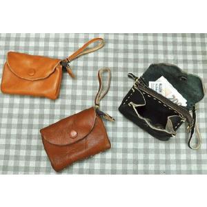 レザースモールポーチ 革製 財布 コインケース ファッション小物 おしゃれ 選べる3色|grooveplan