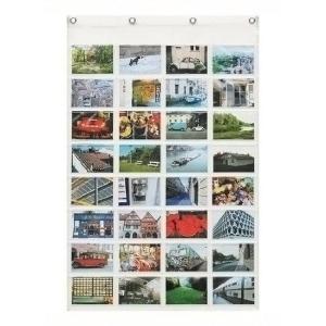 ウォールポケット 壁掛け収納  透明×透明 横型ポストカード 32ポケット クリアー ウォールラック 壁面収納 おしゃれ|grooveplan|02