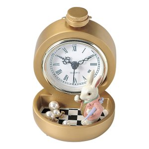 ウォッチ&トレイ(ラビット) アクセサリーディスプレイ 時計 アリス 懐中時計 かわいい 雑貨 レジン|grooveplan