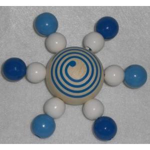 ハイメスHEIMESS スターコマ ブルー ベビー おもちゃ 木のおもちゃ こま|grooveplan