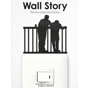 ウォールステッカー 相談 おじさん ojisan Wall Story コンセント 壁紙インテリアシール 壁飾り インテリア雑貨 模様替えに|grooveplan