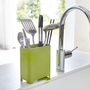キッチンツールスタンド アクア グリーン 緑 キッチン 分別 収納|grooveplan