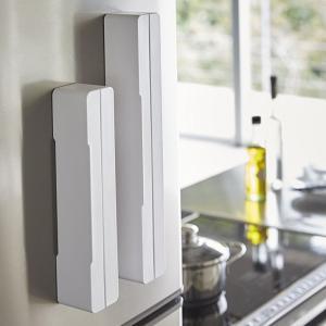 マグネットラップケース アクア L ホワイト 白 キッチン 収納|grooveplan