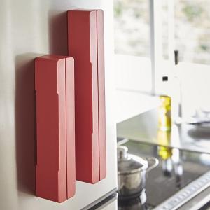 マグネットラップケース アクア L レッド 赤 キッチン 収納|grooveplan
