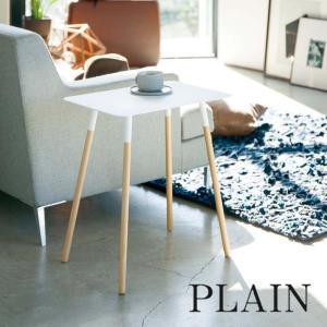 サイドテーブル PLAIN(プレーン) 角型 ホワイト インテリア 家具|grooveplan