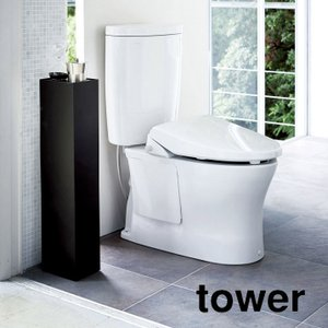 スリムトイレラック tower(タワー) ブラック 収納 シンプル|grooveplan