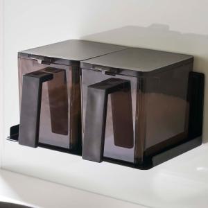 マグネット調味料ストッカーラック タワー tower ブラック 調味料収納 調味料ラック マグネット 磁石 ラック 壁 キッチン収納|grooveplan