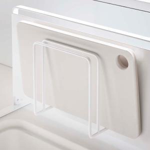 マグネットまな板スタンド タワー tower ホワイト マグネット 磁石 まな板 スタンド 水切り 壁面収納 キッチン収納 台所雑貨|grooveplan