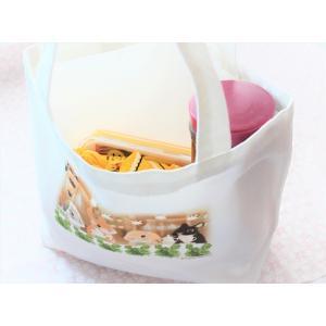 うさぎ トートバッグ ランチトート カフェ かわいい 小林裕美子 うさぎ雑貨 日本製 yumiko kobayashi|grooveplan