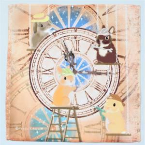 うさぎ ハンカチ ミニ 時計台修理 かわいい 小林裕美子 うさぎ雑貨 日本製 yumiko kobayashi|grooveplan