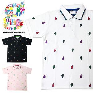 ポロシャツ 半袖 メンズ 無地 迷彩 カモフラ 2枚襟 おしゃれ ロゴ ブランド ストリート系 ファッション ダンス 衣装 B系 XL|groover-grand