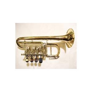 High B♭/A管ロータリーピッコロトランペット ベル:ゴールドブラス、100mm ボア:10.5...