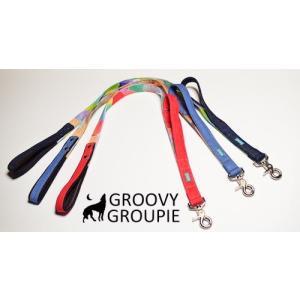 大型犬用 サイドグリップ付きリード カラフルbonbon&デニム 綿 <br>|groovygroupie
