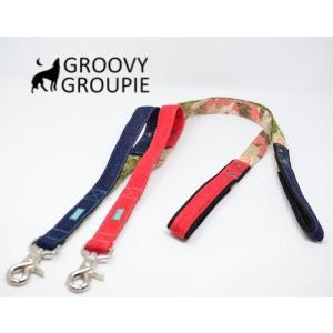 大型犬用 サイドグリップ付きリード 迷彩&デニム 綿 <br>|groovygroupie