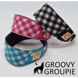 ギンガムチェック &ドット柄!ハーフチョーク【小型犬用】ミニピン・イタグレにぴったり!|groovygroupie