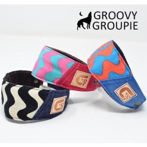 チワワなど超小型犬に!ソフトクッション付きで優しい! ロリポップウェーブ &デニム ハーフチョーク|groovygroupie