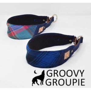 チェック柄!ハーフチョーク【中犬用】サルーキー、ウィペットにぴったり! |groovygroupie