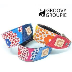 花柄プリント!ハーフチョーク【中型犬用】サルーキー、ウィペットにぴったり! |groovygroupie