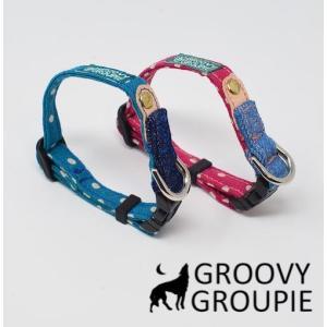 超小型犬用 首輪  水玉、ドット柄|groovygroupie