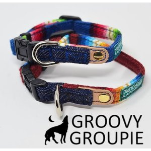 超小型犬用 首輪  レインボーマルチストライプ&水玉、ドット柄|groovygroupie