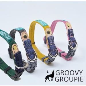 超小型犬用 首輪  ツイル&デニム|groovygroupie