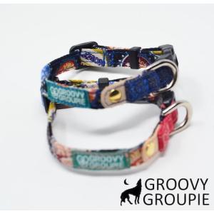 超小型犬用 首輪  ボトルキャップ柄&デニム|groovygroupie